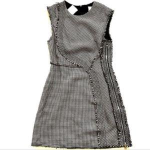 Phillip Lim 3.1 Wool Sheath Dress 10 12 Fringe Zip